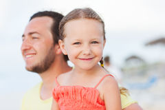 Father and daughter outdoors Royalty Free Stock Images