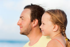 Father and daughter outdoors Royalty Free Stock Photo