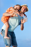 Father and daughter outdoors Stock Photography