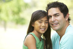 Father And Daughter In Park Royalty Free Stock Photos