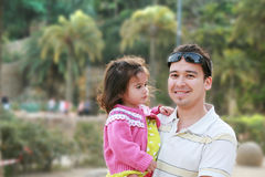 Father and daughter in park Stock Photos