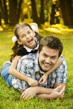 Father and daughter in park Stock Photography