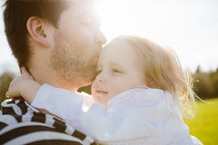 Father and daughter in the park Royalty Free Stock Photography