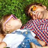 Father with daughter In Park smiling happy stock image