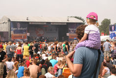 Father and Daughter at Parkpop Royalty Free Stock Photo