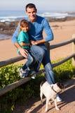 Father daughter pet Royalty Free Stock Photos
