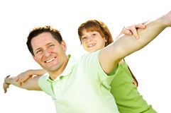 Father and daughter piggyback Royalty Free Stock Photography