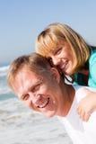 Father daughter piggyback Royalty Free Stock Photos