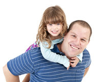 Father and daughter piggyback Royalty Free Stock Photos