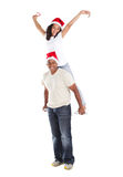 Father daughter piggyback Royalty Free Stock Images
