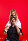 Father daughter piggyback Royalty Free Stock Photo