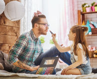 Father and daughter play Stock Image