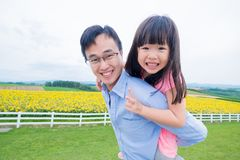 Father and daughter play happily Royalty Free Stock Photography
