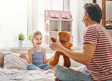 Father and daughter play Royalty Free Stock Image