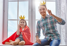 Father and daughter play Stock Photos