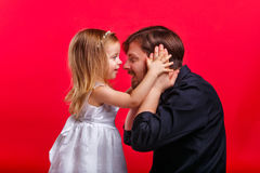 Father and daughter play Royalty Free Stock Photos