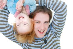 Father and daughter playing Royalty Free Stock Photos