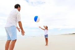 Family beach fun Stock Photography