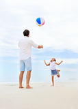 Family beach fun Stock Images