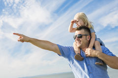 Father and Daughter Playing, Having Fun Together Stock Image
