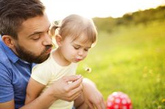 Father and daughter playing Royalty Free Stock Images