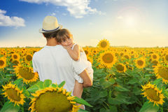 Father and daughter playing Stock Photography