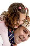 Father and daughter playing together happil Royalty Free Stock Photography