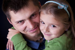 Father daughter portrait Royalty Free Stock Photos