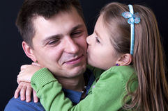 Father daughter portrait Stock Photography