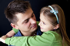 Father daughter portrait Royalty Free Stock Image