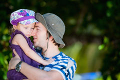 Father and daughter portrait Stock Images