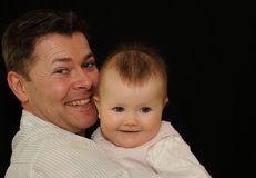 Father and Daughter Portrait Stock Image