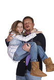 Father and Daughter Posing Royalty Free Stock Photography