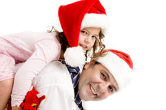 Father and daughter posing Royalty Free Stock Photos