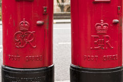 Father and daughter post boxes Royalty Free Stock Photo