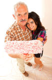 Father and daughter renovating home Stock Images