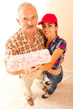 Father and daughter renovating home Royalty Free Stock Images