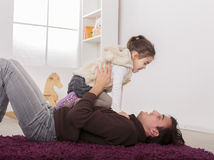 Father and daughter in the room Royalty Free Stock Photo