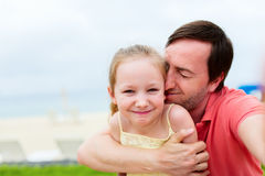 Father and daughter selfie Stock Photo