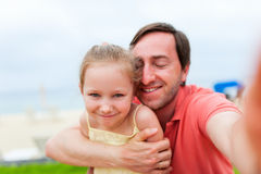 Father and daughter selfie Stock Image
