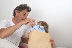 Father and daughter shirt Royalty Free Stock Images