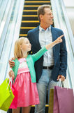 Father and daughter shopping. Royalty Free Stock Photos