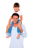 Father with daughter on shoulders Royalty Free Stock Image