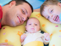 Father with daughter and son Stock Photography