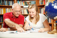 Father Daughter Study Time Stock Images