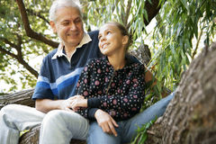 Father and daughter talking Royalty Free Stock Photos
