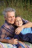 Father and daughter talking Royalty Free Stock Images