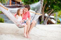 Father and daughter on vacation Royalty Free Stock Photography