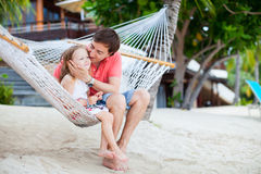 Father and daughter on vacation Stock Photos