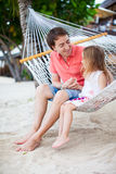 Father and daughter on vacation Stock Photo